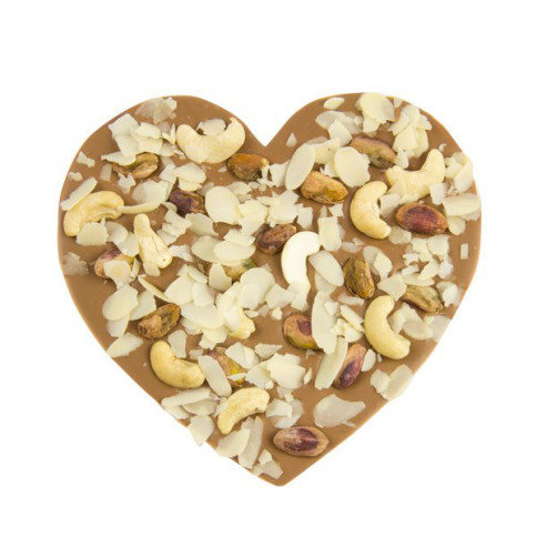 Milk Heart with Nuts