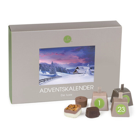 Adventskalender Deluxe Green - Postcard